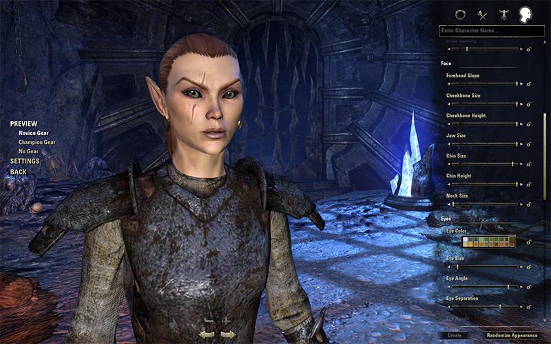 The Elder Scrolls Online: criação de char