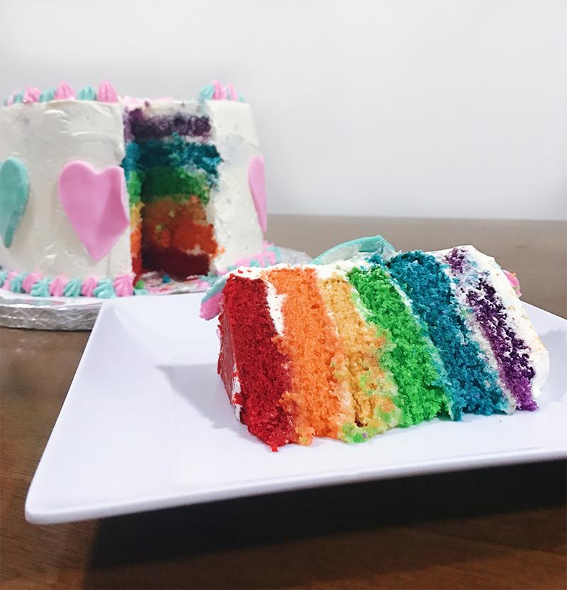 confeitaria - bolo arco-iris