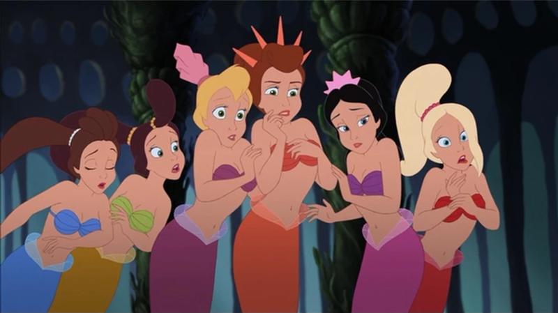 A Pequena Sereia - irmãs de Ariel