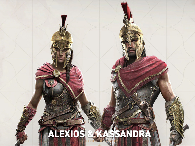 Assassin's Creed Odyssey gameplay video e a possibilidade de jogar com personagem feminino