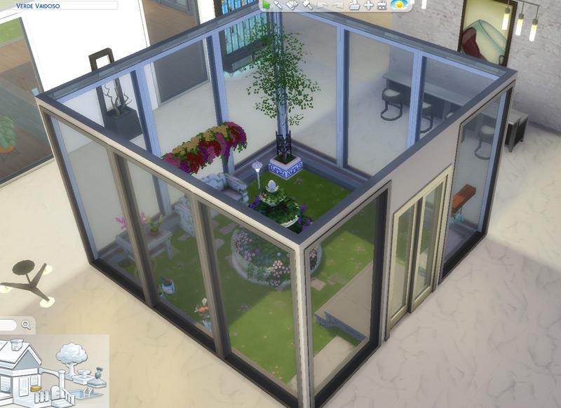 Jardim de inverno - Virei arquiteta / decoradora no The Sims 4