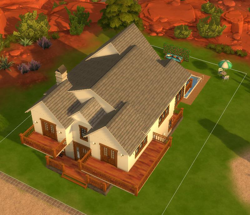 Que tal uma casa colonial? Virei arquiteta / decoradora no The Sims 4