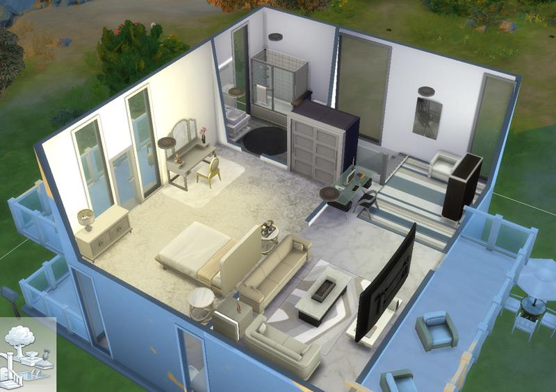 Segundo andar da casa moderna