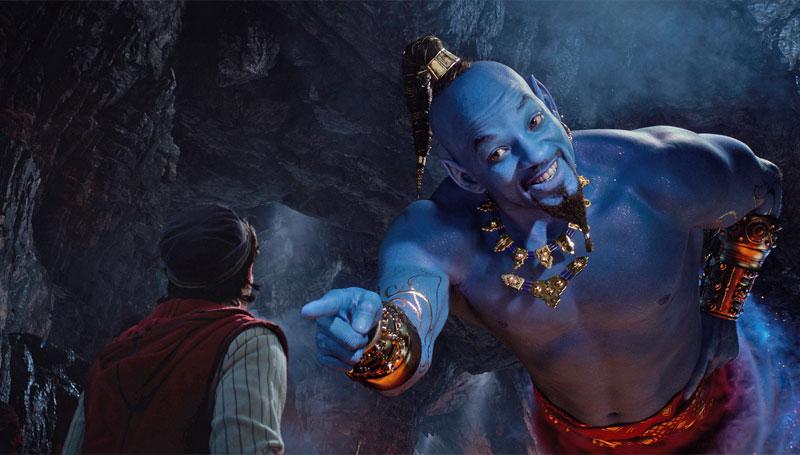 Will Smith como Gênio em Aladdin 2019