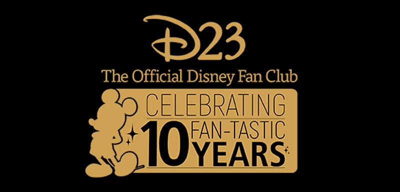 D23 logo - 10 Years Celebration