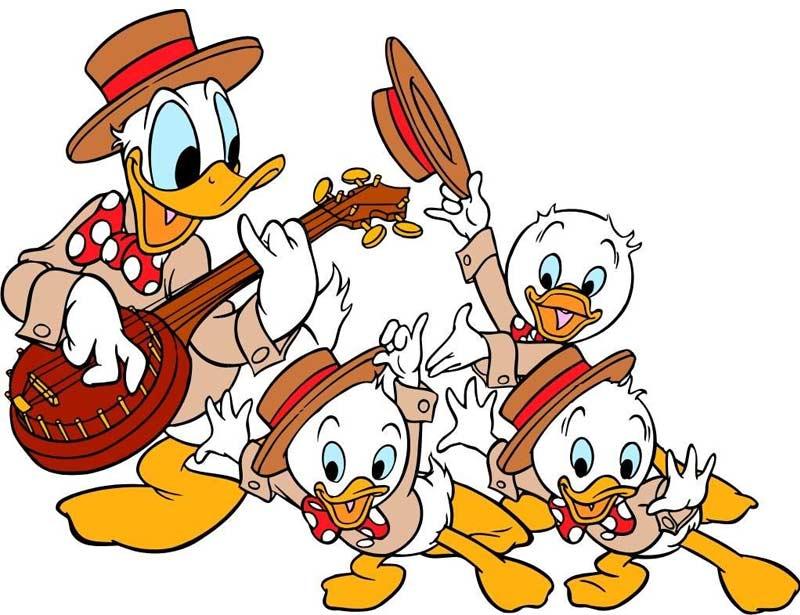 Pato Donald e sobrinhos
