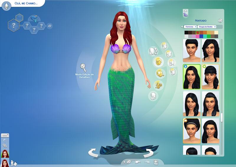 The Sims 4 Ilhas Tropicais - criando uma  sereia