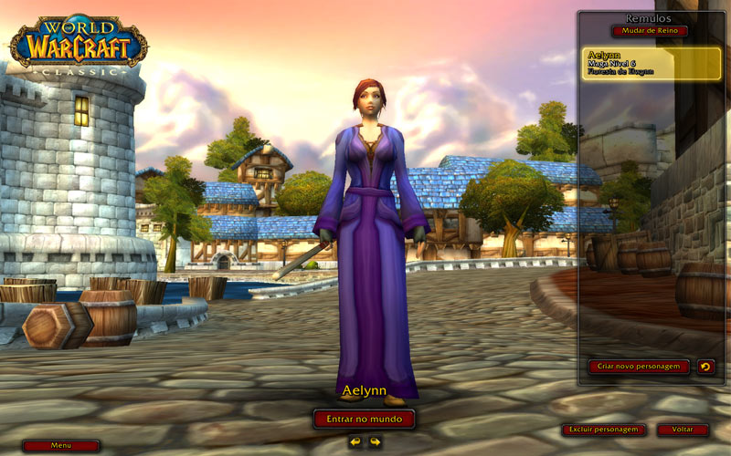 World of Warcraft Classic - meu char na Oceania hahaha