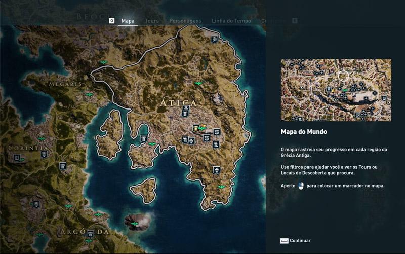 Mapa do Discovery Tour